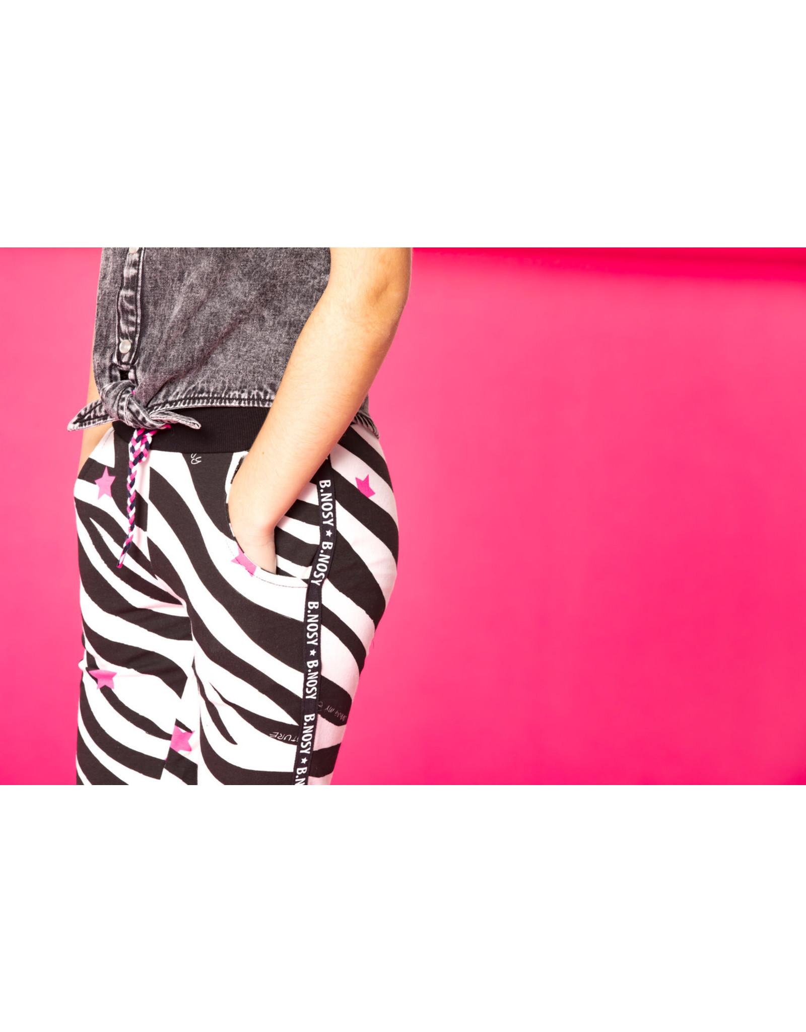 B.Nosy B.Nosy meisjes joggingbroek met zebraprint en b.nosy bies