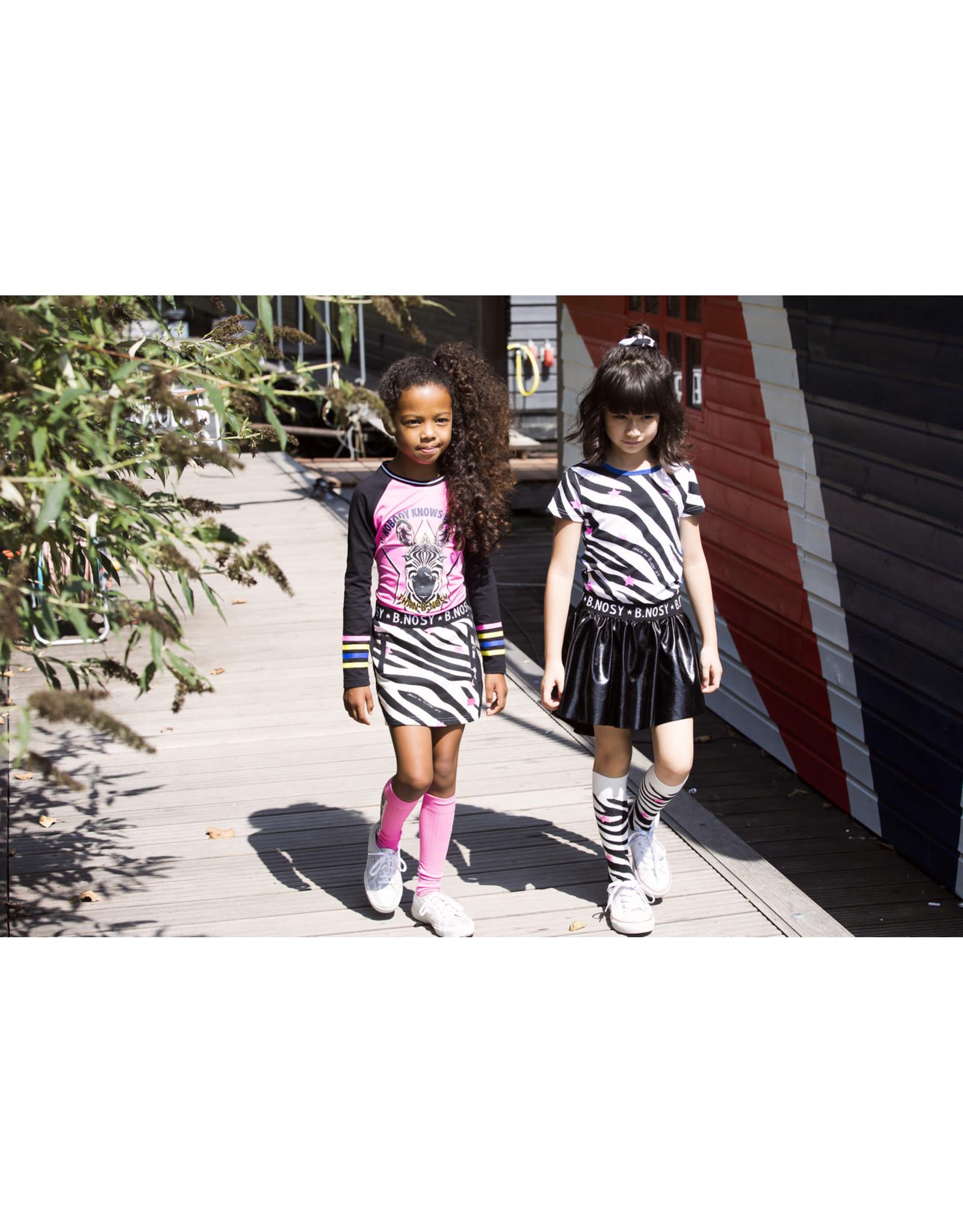 B.Nosy B.Nosy meisjes zebraprint crunchy