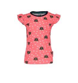 B.Nosy B.Nosy baby meisjes t-shirt met ao tijgers met brillen