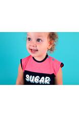 B.Nosy B.Nosy baby meisjes korte mouwen jurk met tijgertjes op het rokje