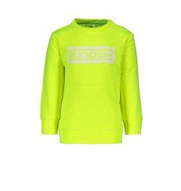 B.Nosy B.Nosy baby jongens sweater met logo Safety Yellow
