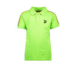 TYGO & vito TYGO & vito jongens polo t-shirt met bies Green