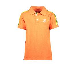 TYGO & vito TYGO & vito jongens polo t-shirt met bies Orange