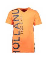 TYGO & vito TYGO & vito jongens t-shirt HOLLAND Orange