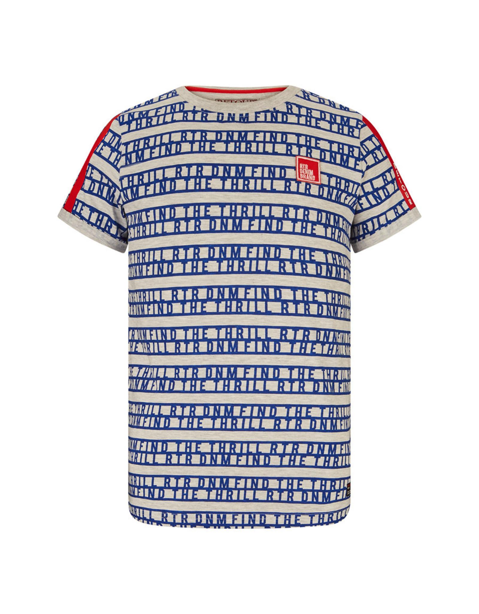 RETOUR Retour jongens ao t-shirt Moris Grey