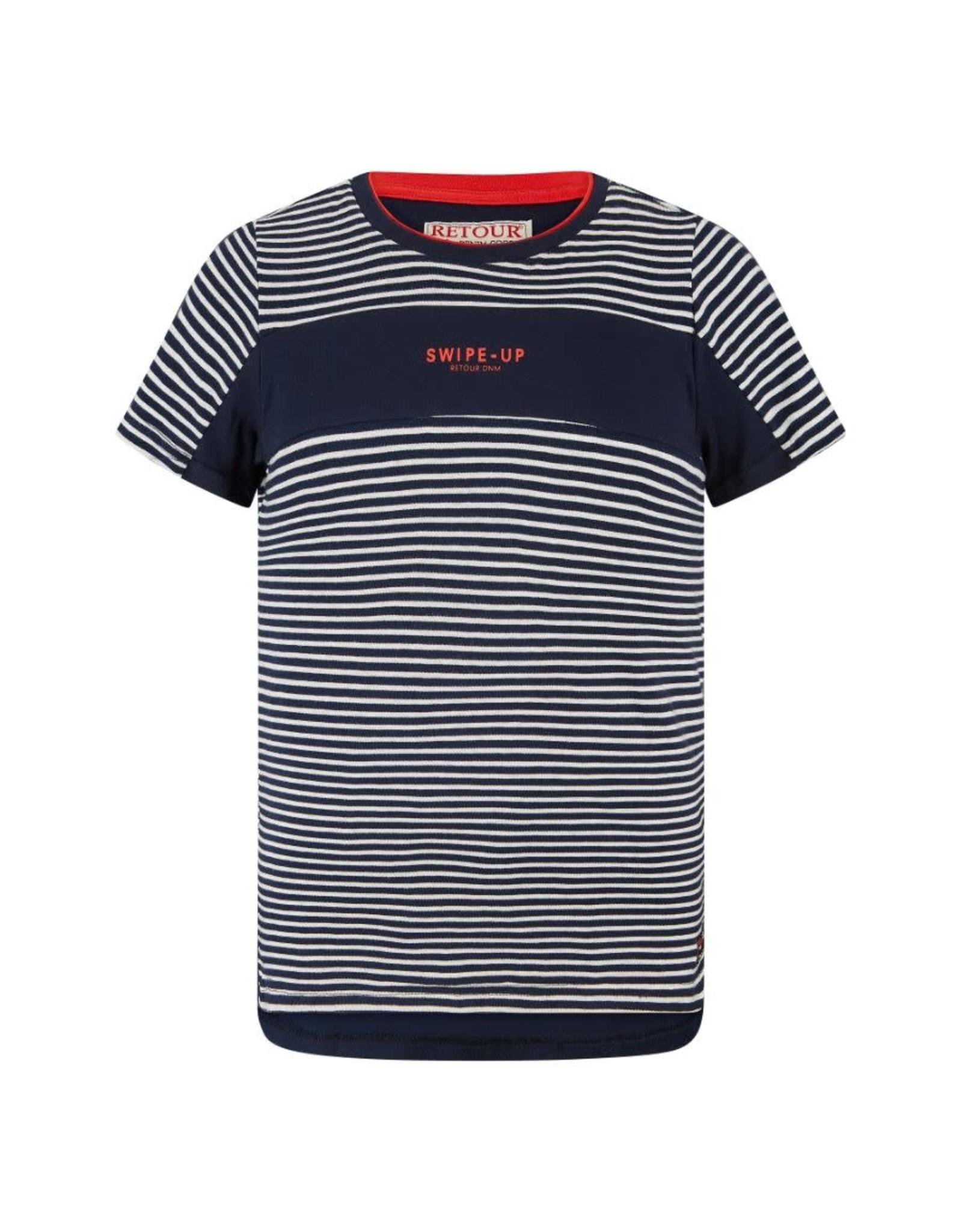 RETOUR Retour jongens t-shirt Pharrel Navy