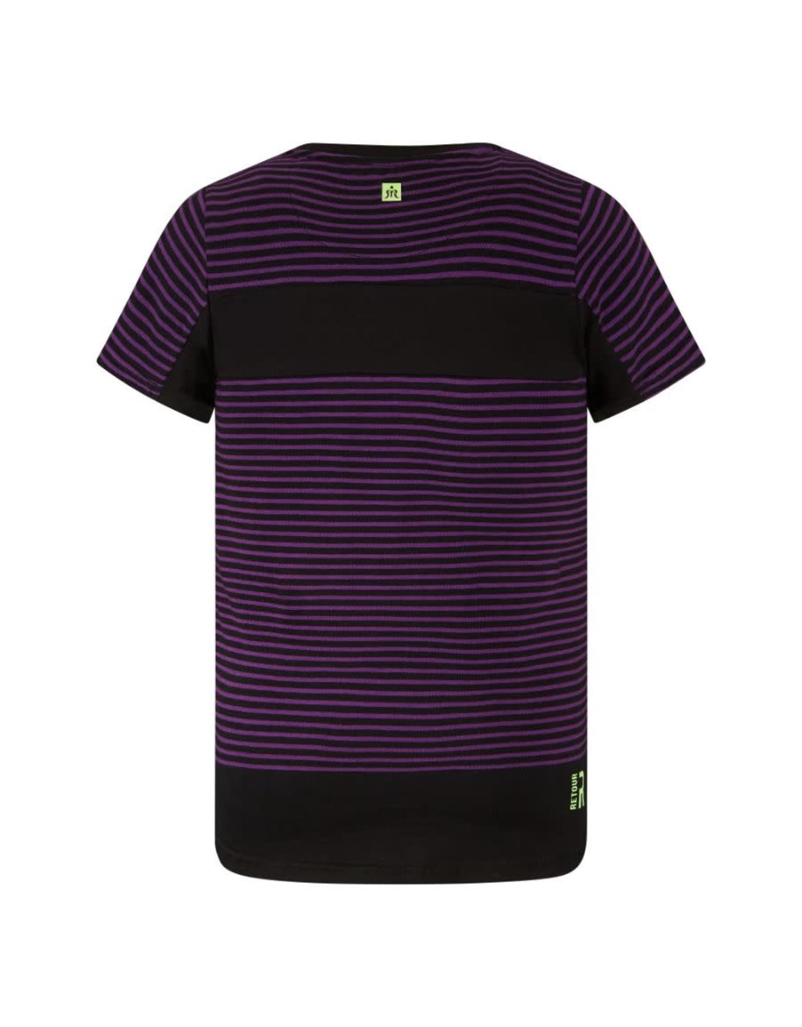RETOUR Retour jongens t-shirt Pharrel Purple