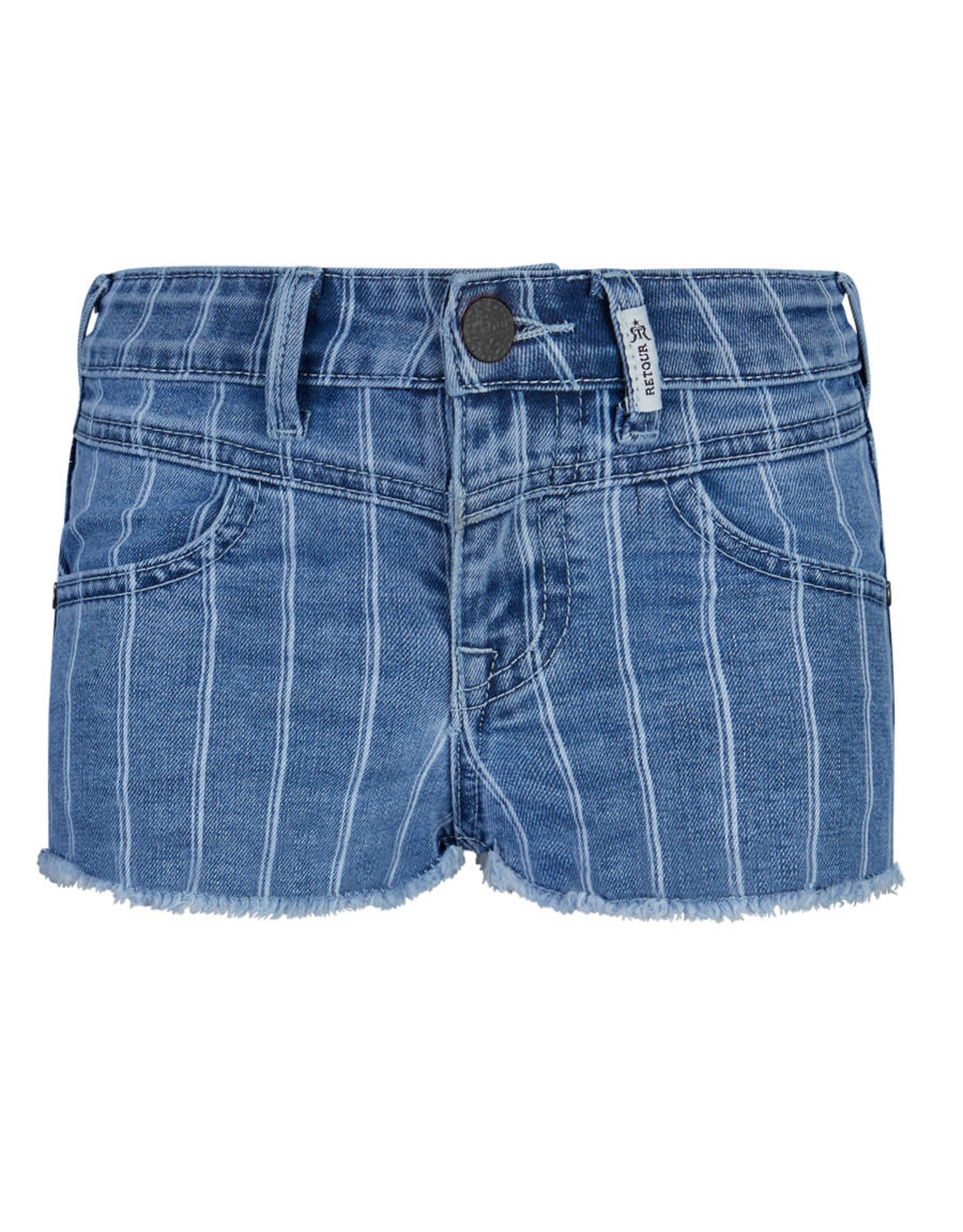 RETOUR Retour meiden korte jeans Violetta Light Blue Denim