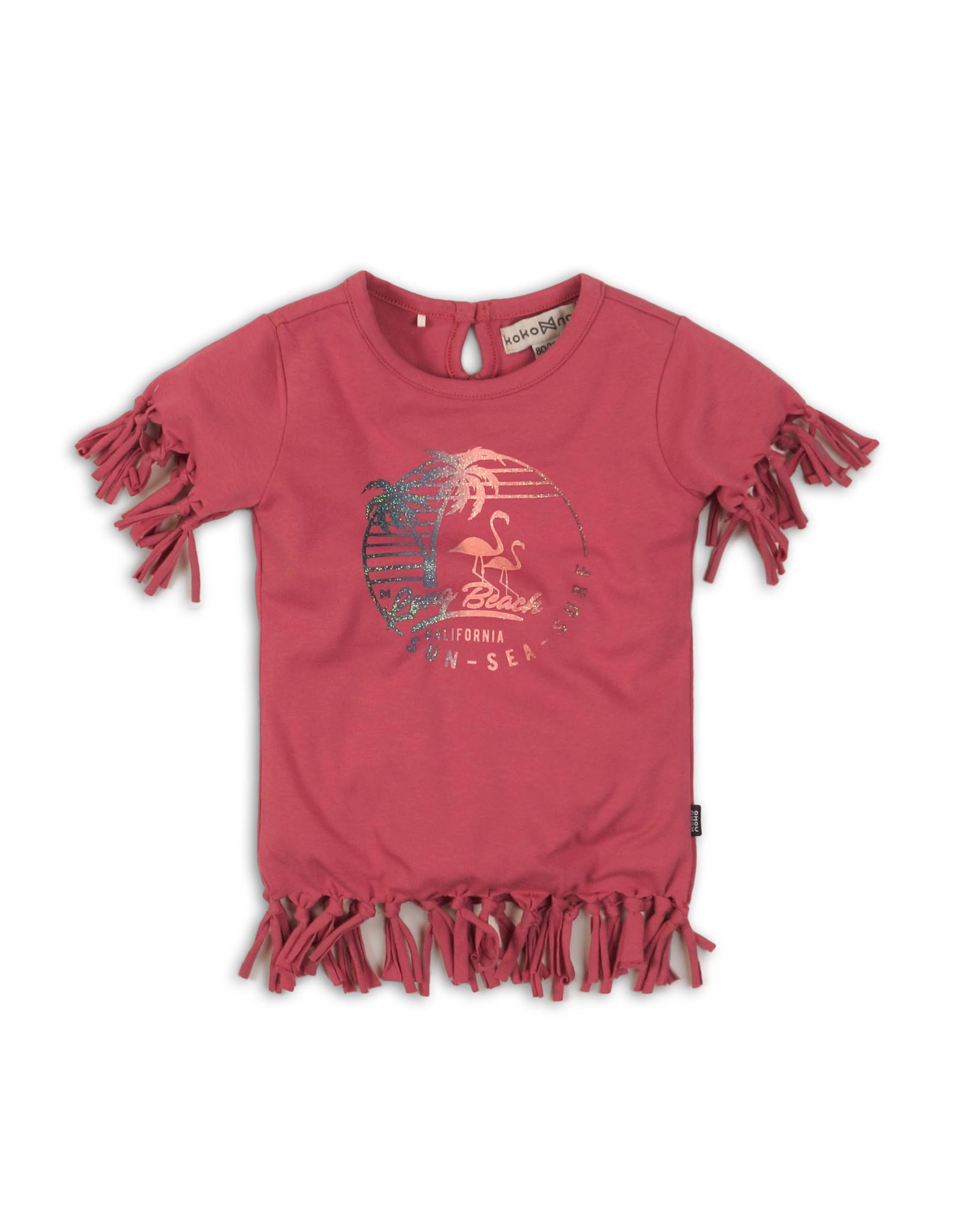 Koko Noko Koko Noko meisjes t-shirt met franjes