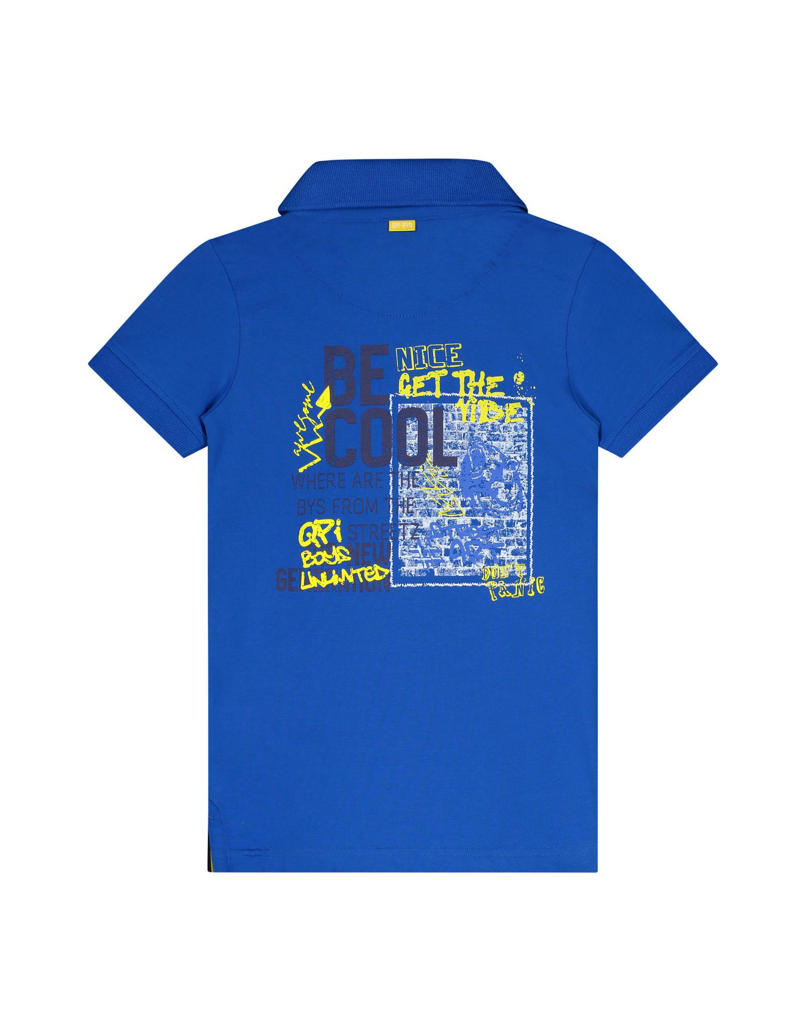 Quapi Quapi jongens polo t-shirt Amed Cobalt