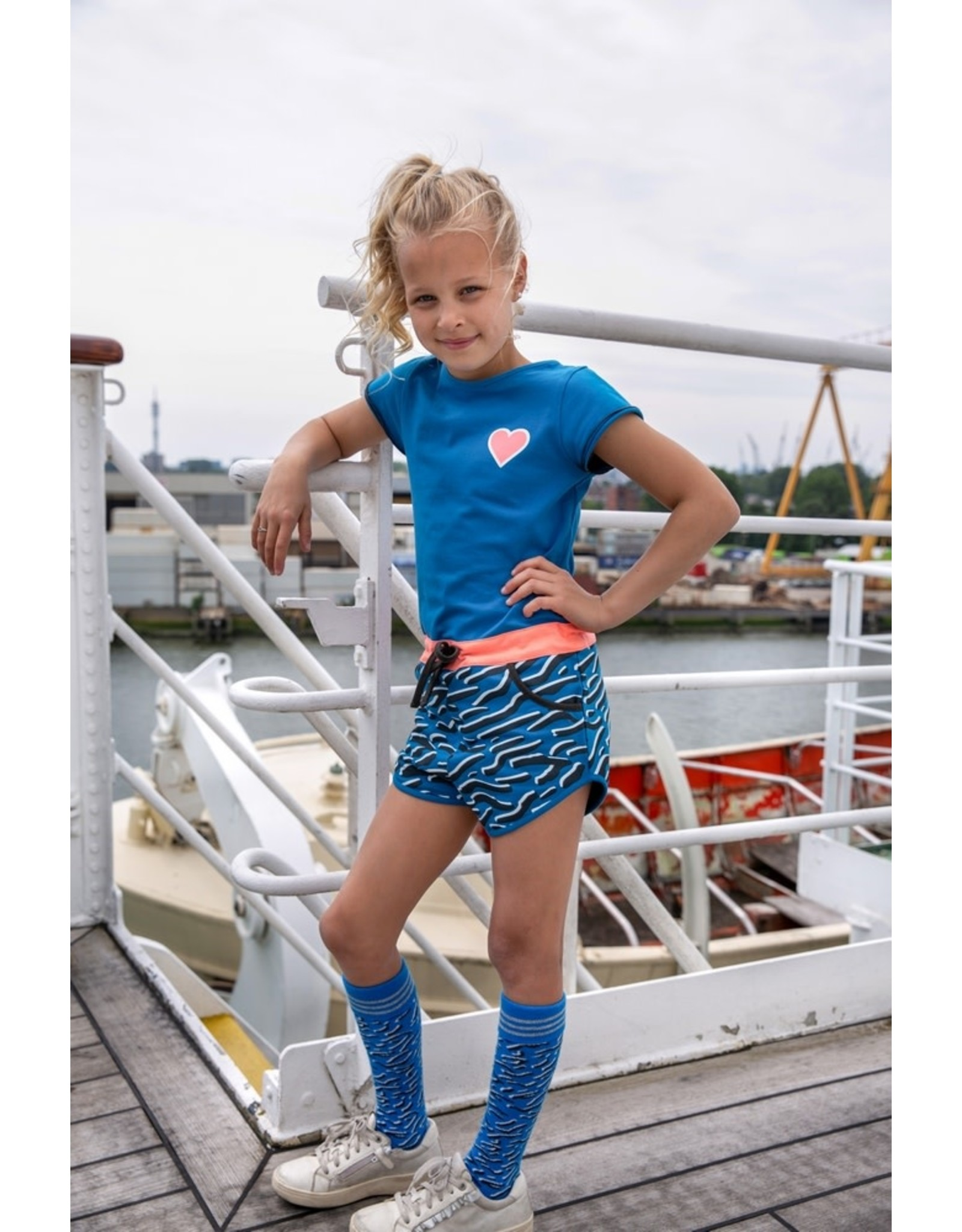 Lovestation Love Station meisjes korte mouwen jumpsuit Pippa