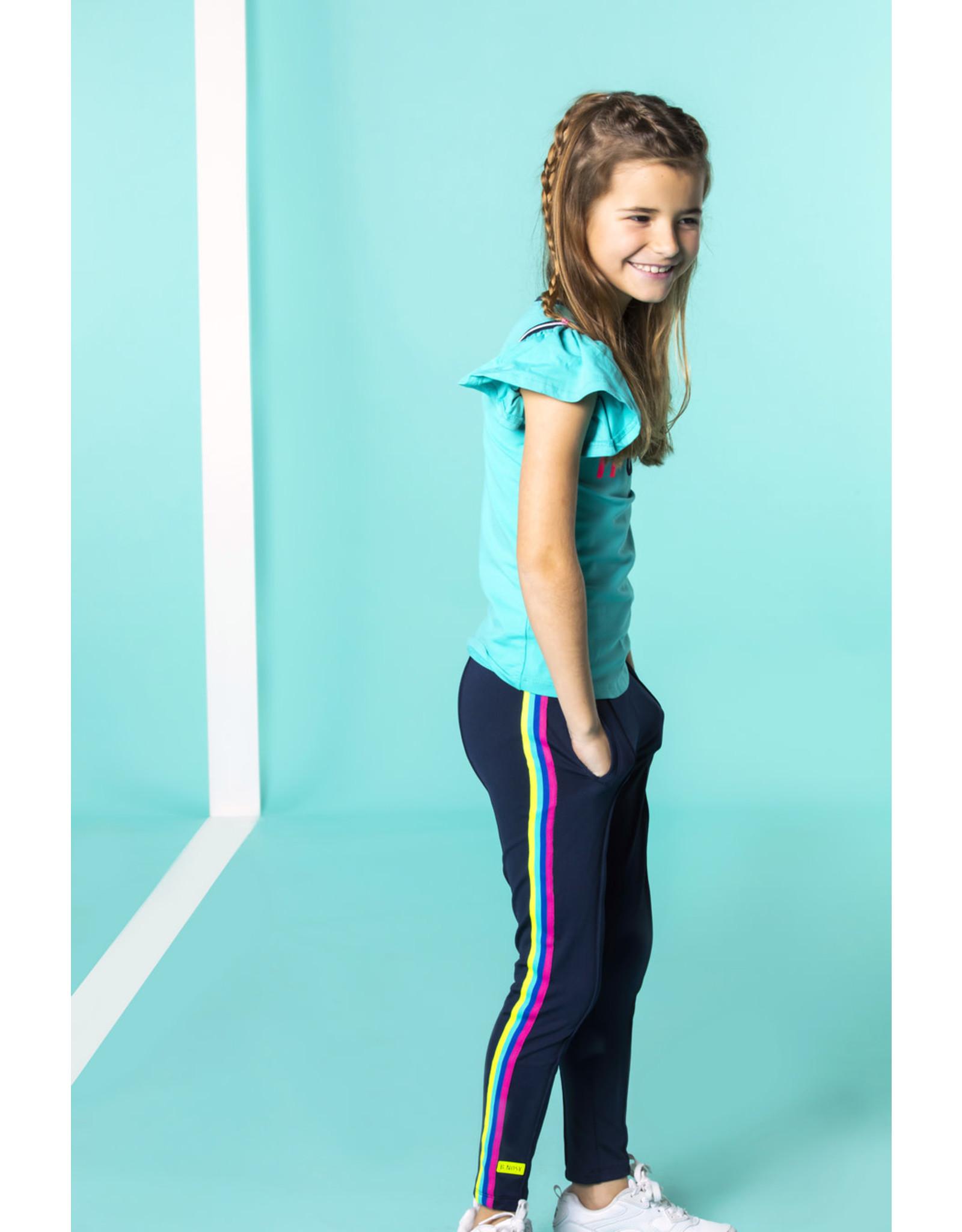 B.Nosy B.Nosy meisjes joggingbroek met bies Space Blue