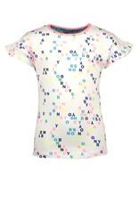 B.Nosy B.Nosy meisjes t-shirt met aop White Letter