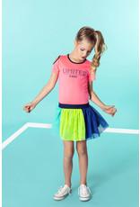 B.Nosy B.Nosy meisjes korte mouwen jurk met tulle Festival Pink