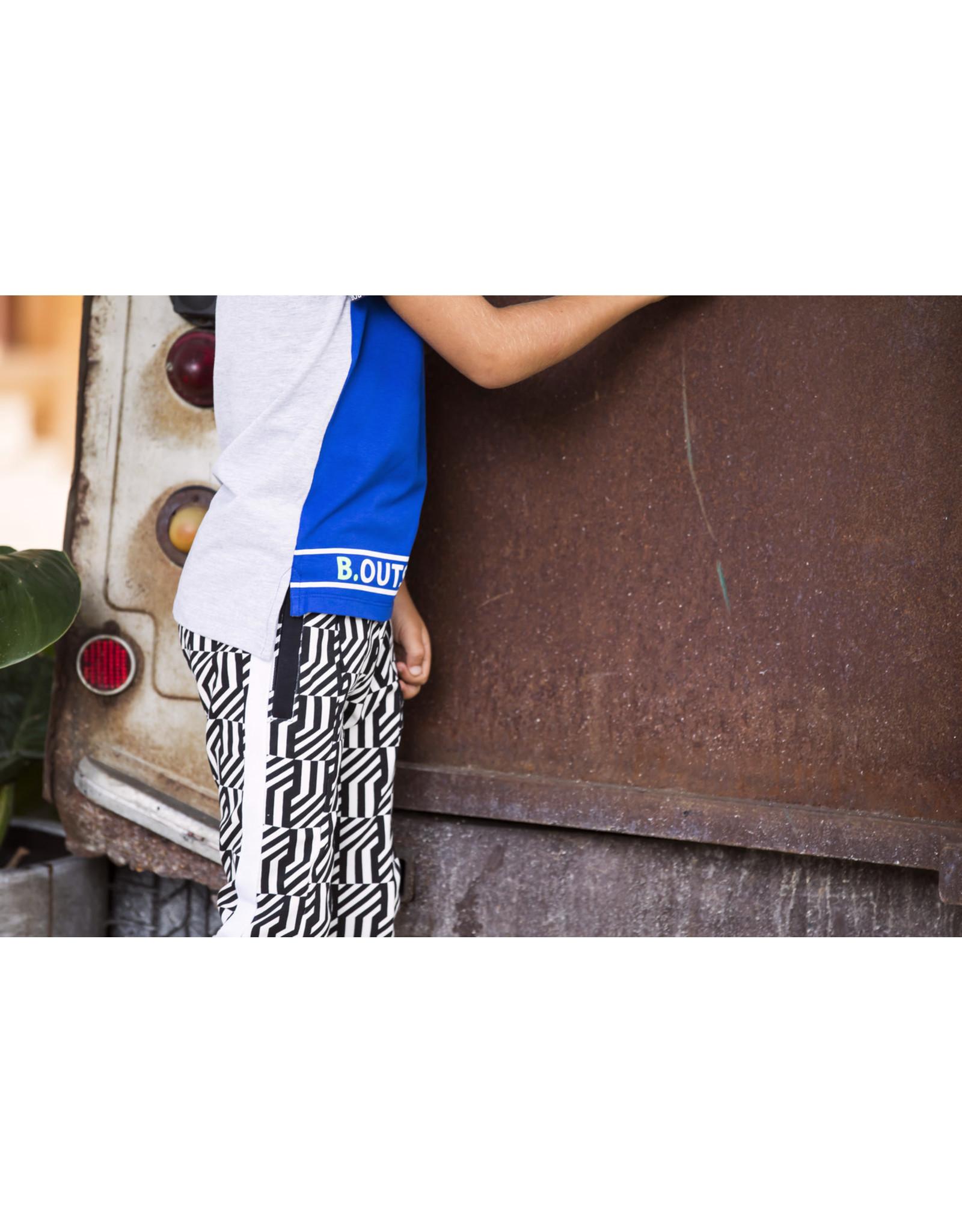 B.Nosy B.Nosy jongens t-shirt met B.Nosy banden op de mouwen Cobalt Blue