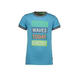 B.Nosy B.Nosy jongens t-shirt Great Waves Maya Blue