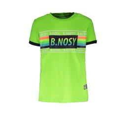 B.Nosy B.Nosy baby jongens t-shirt met multicolor strepen Gecko Green