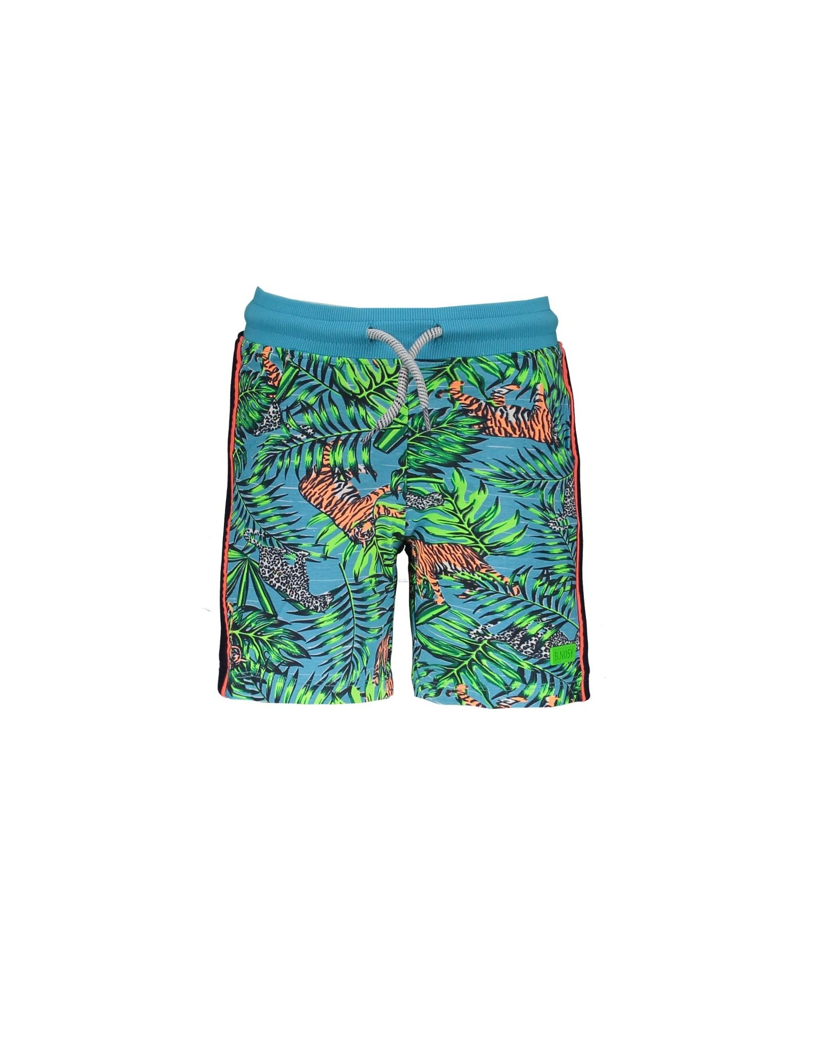 B.Nosy B.Nosy baby jongens korte joggingbroek Tiger Jungle