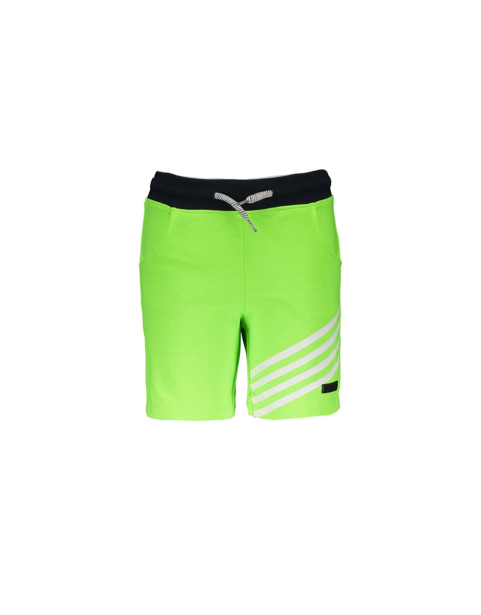 B.Nosy B.Nosy baby jongens korte joggingbroek met 1 kant strepen Gecko Green