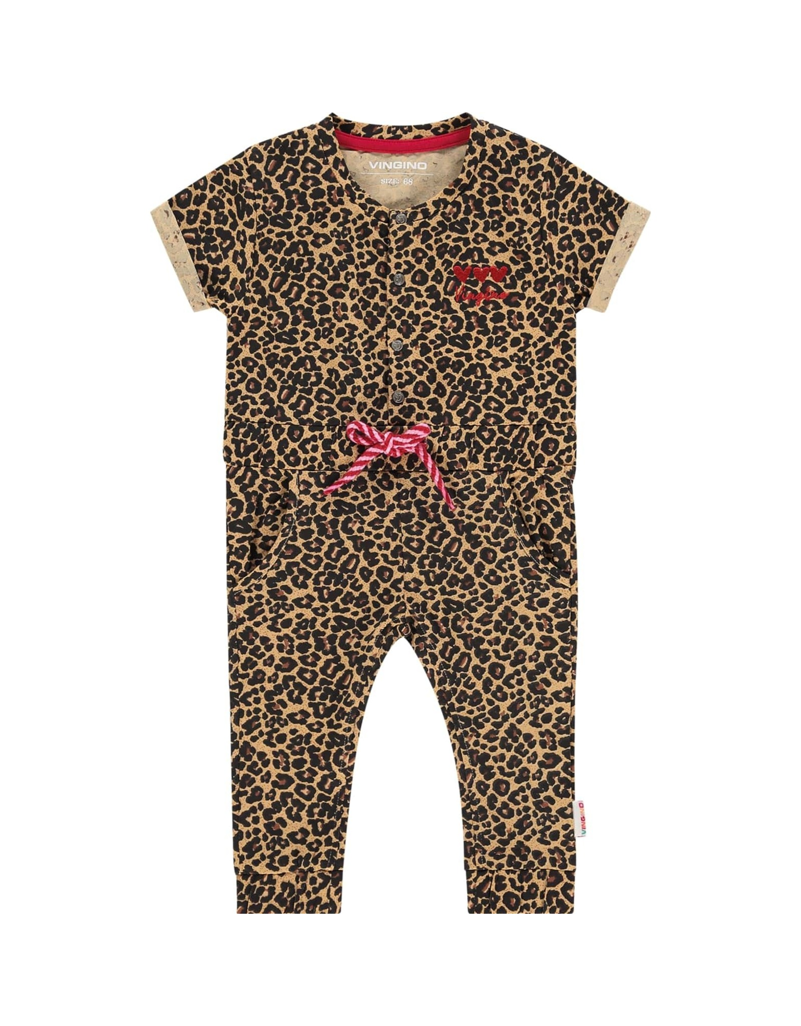 Vingino Vingino baby meisjes jumpsuit Plisa Multicolor Brown