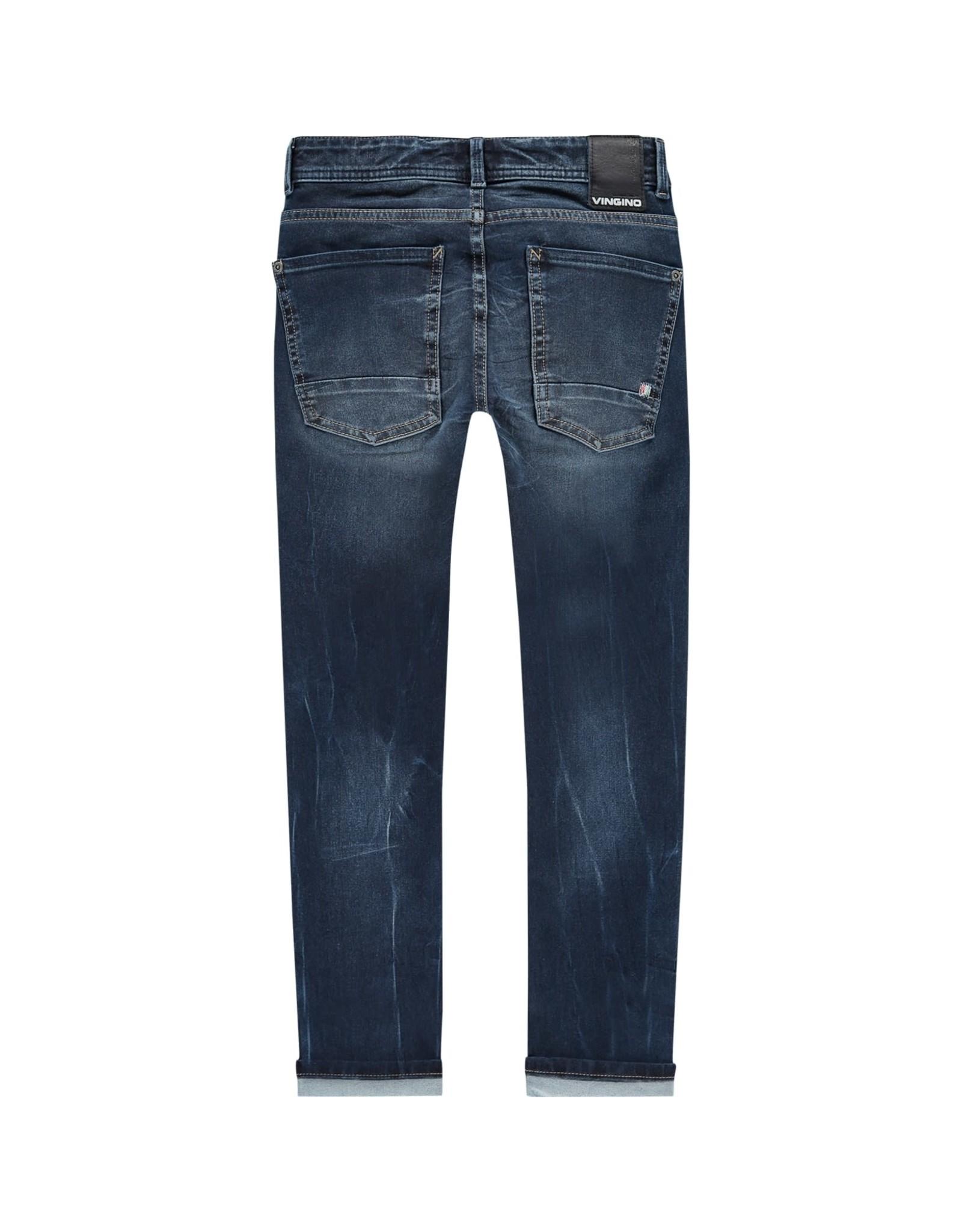 Vingino Vingino jongens 4-way strech jeans Alfons Blue Vintage