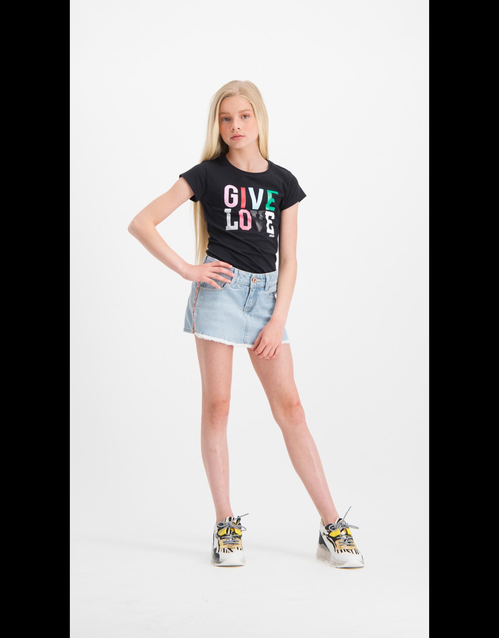 Vingino Vingino meiden korte jeans/rok Dorella Ligt Bleach