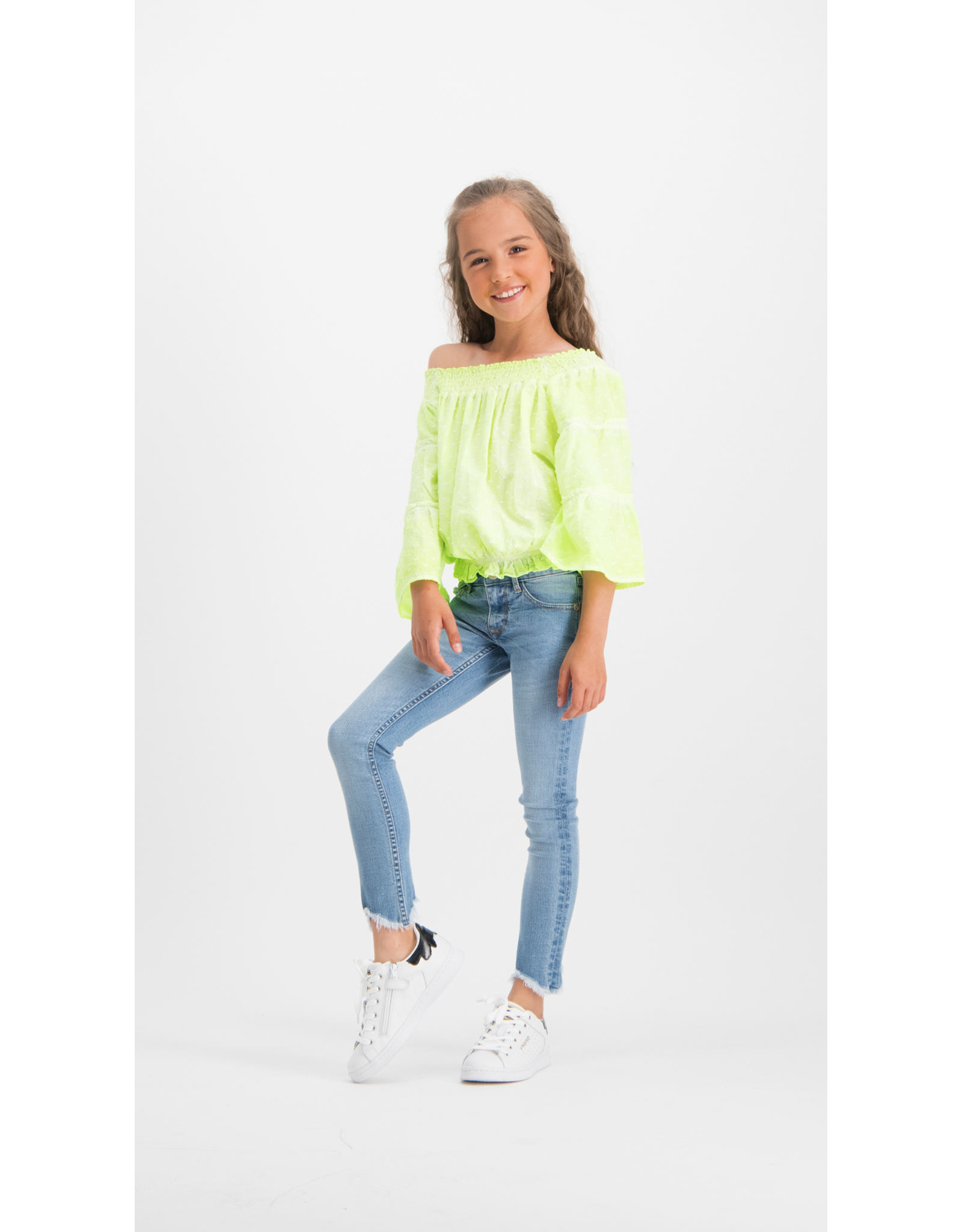 Vingino Vingino meiden shirt Laila Neon Yellow