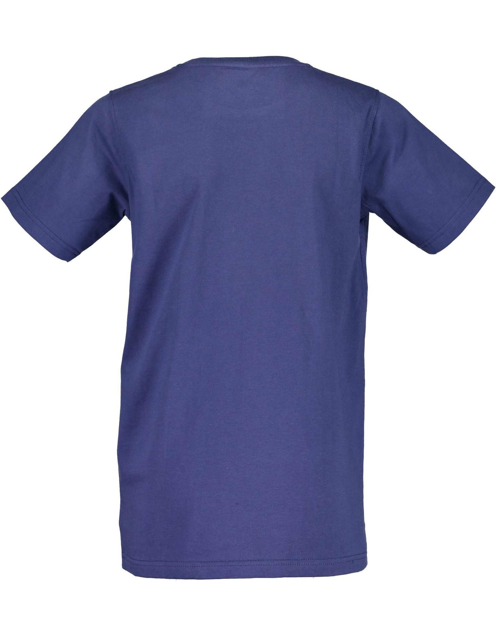 Blue Seven Blue Seven jongens t-shirt Tropical Jeans Blue