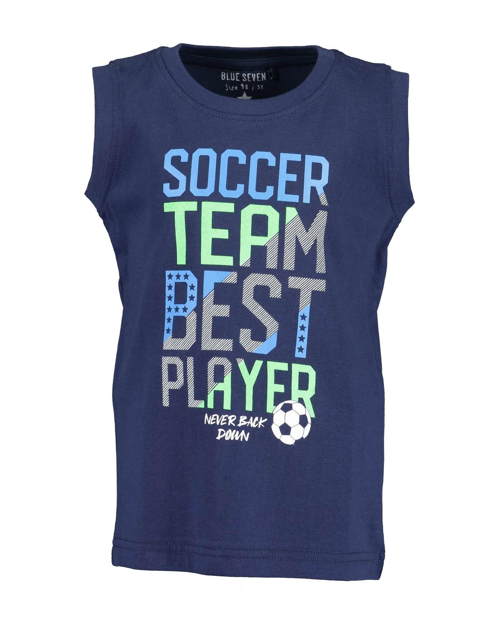 Blue Seven Blue Seven jongens hemd Soccer DK Blue