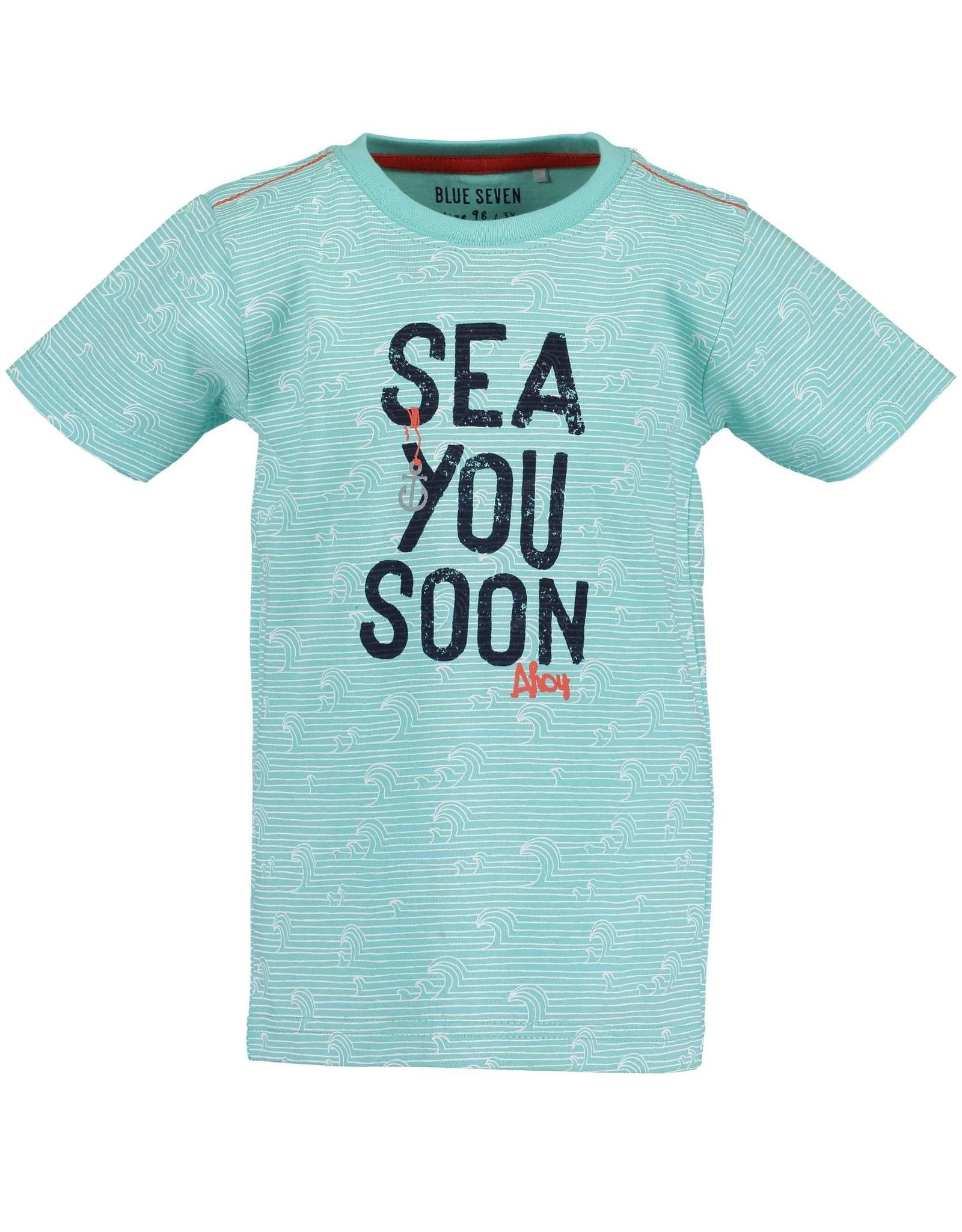 Blue Seven Blue Seven jongens t-shirt Whale Bay Aqua