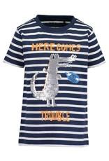 Blue Seven Blue Seven jongens t-shirt See U Later DK Blue