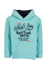 Blue Seven Blue Seven jongens hoodie Whale Bay Aqua