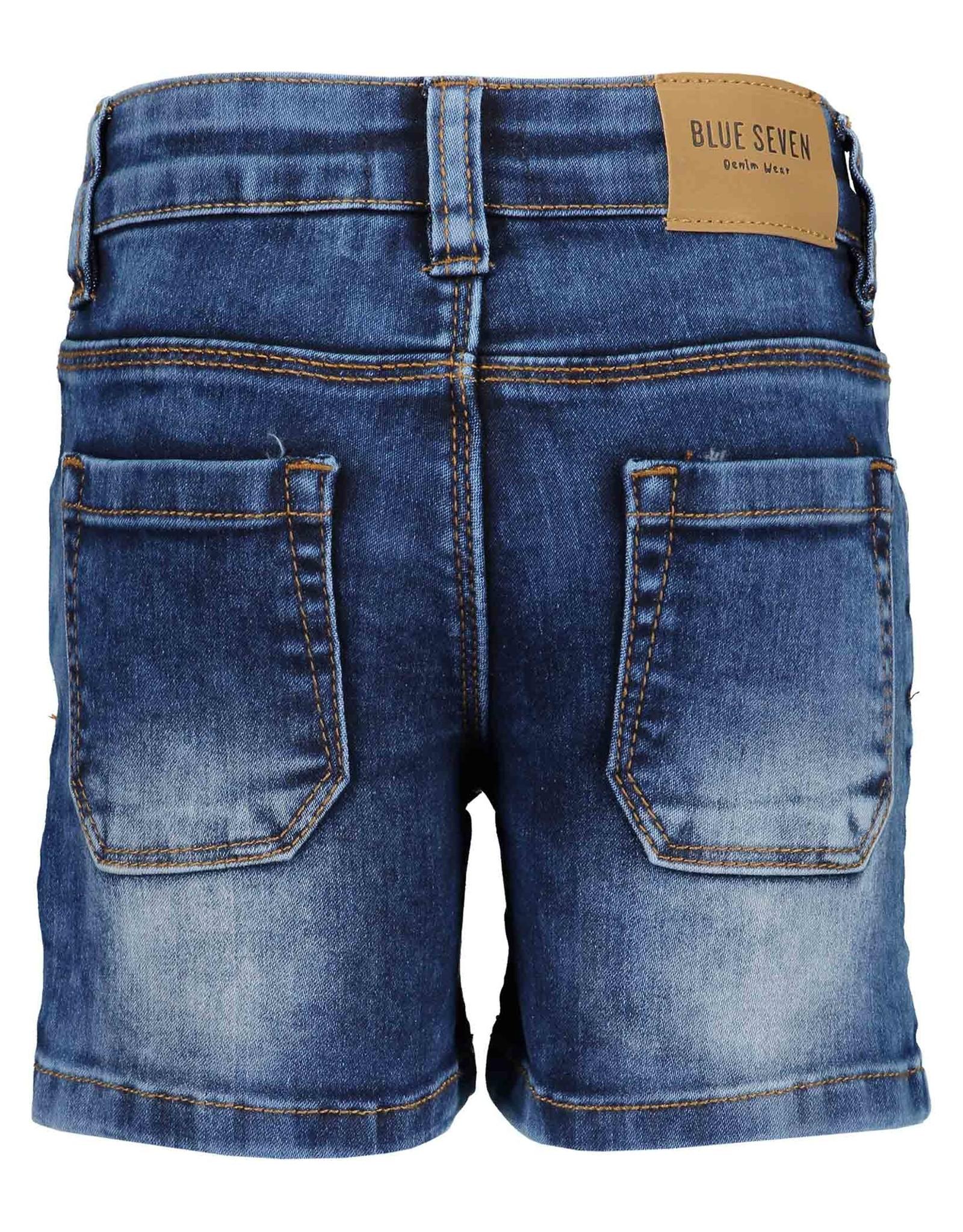 Blue Seven Blue Seven jongens korte jeans Xtreme Cars Jeansblue
