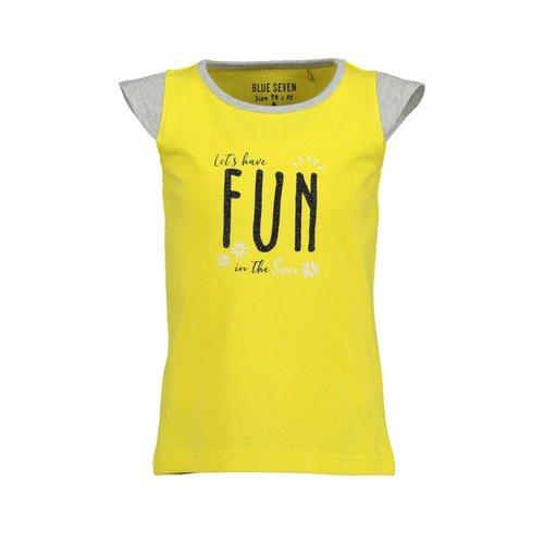 Blue Seven Blue Seven meisjes t-shirt Fun Panda Yellow