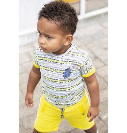 Quapi Quapi baby jongens t-shirt Berk Empire Yellow Stripe