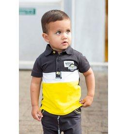 Quapi Quapi baby jongens polo t-shirt Birk Dark Grey