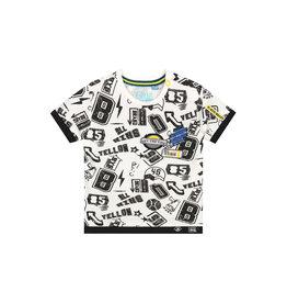Quapi Quapi baby jongens t-shirt Bilal Dark Grey Sketch Tekst