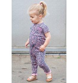 Quapi Quapi baby meisjes jumpsuit Bess Light Pink Leopard