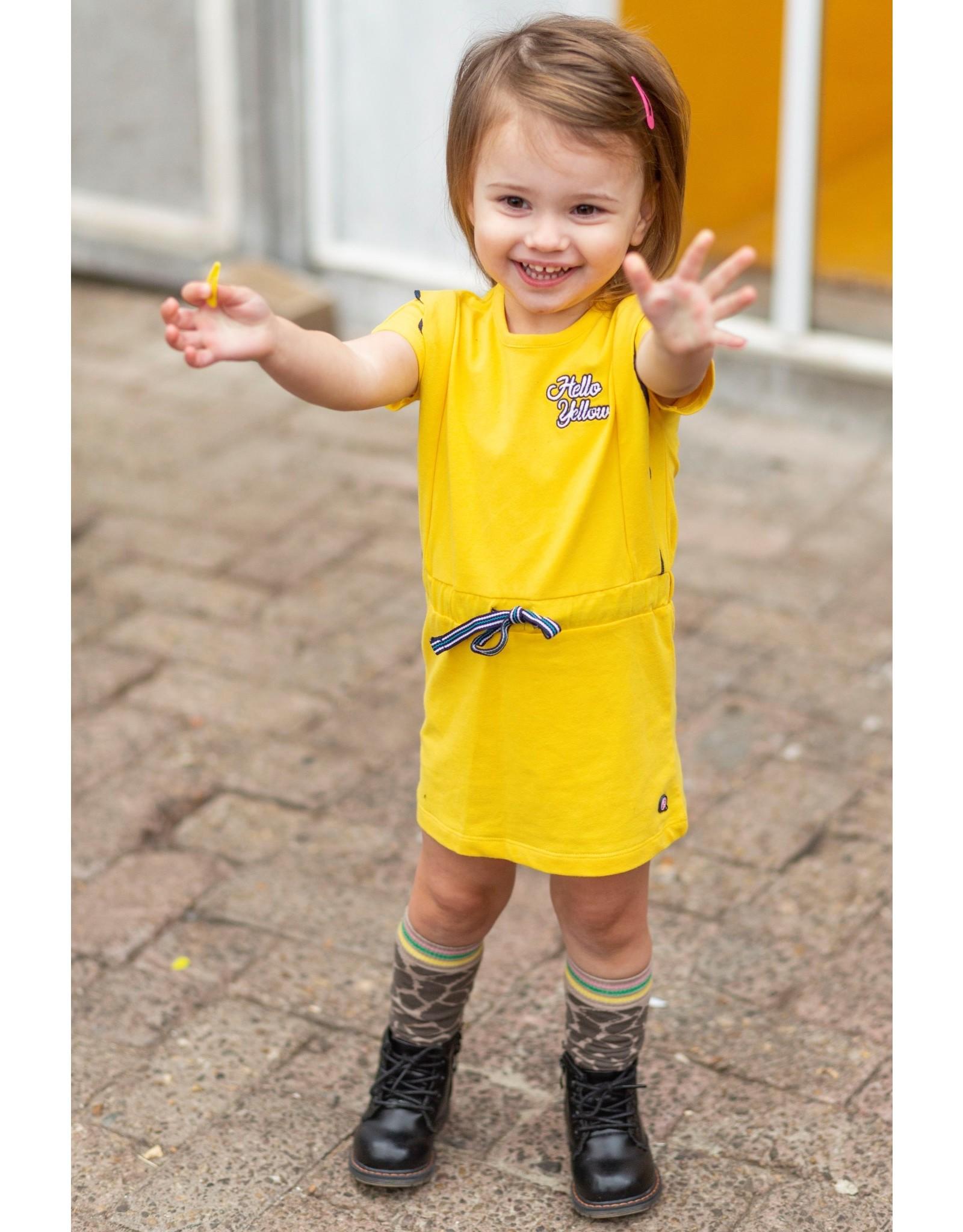 Quapi Quapi baby meisjes jurk Baukje Banana Yellow