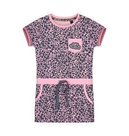 Quapi Quapi baby meisjes jurk Balou Light Pink Leopard