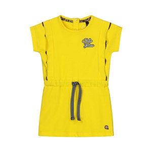 Quapi Quapi baby meisjes korte mouwen jurk Baukje Banana Yellow