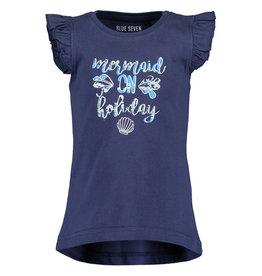 Blue Seven Blue Seven meisjes t-shirt Mermaizing DK Blue