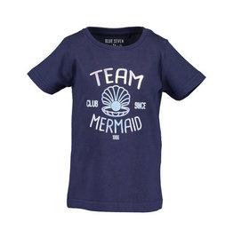 Blue Seven Blue Seven meisjes t-shirt Mermaizing Blue