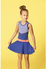 B.Nosy meisjes jurk met gestreepte bovenkant Princess Blue