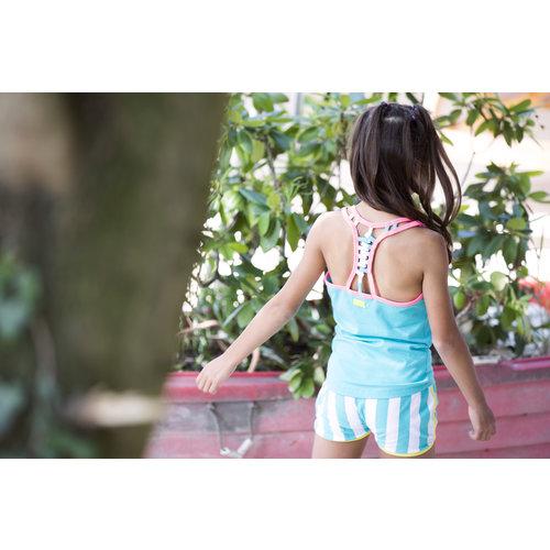 B.nosy meisjes gestreepte korte joggingbroek Ceramic