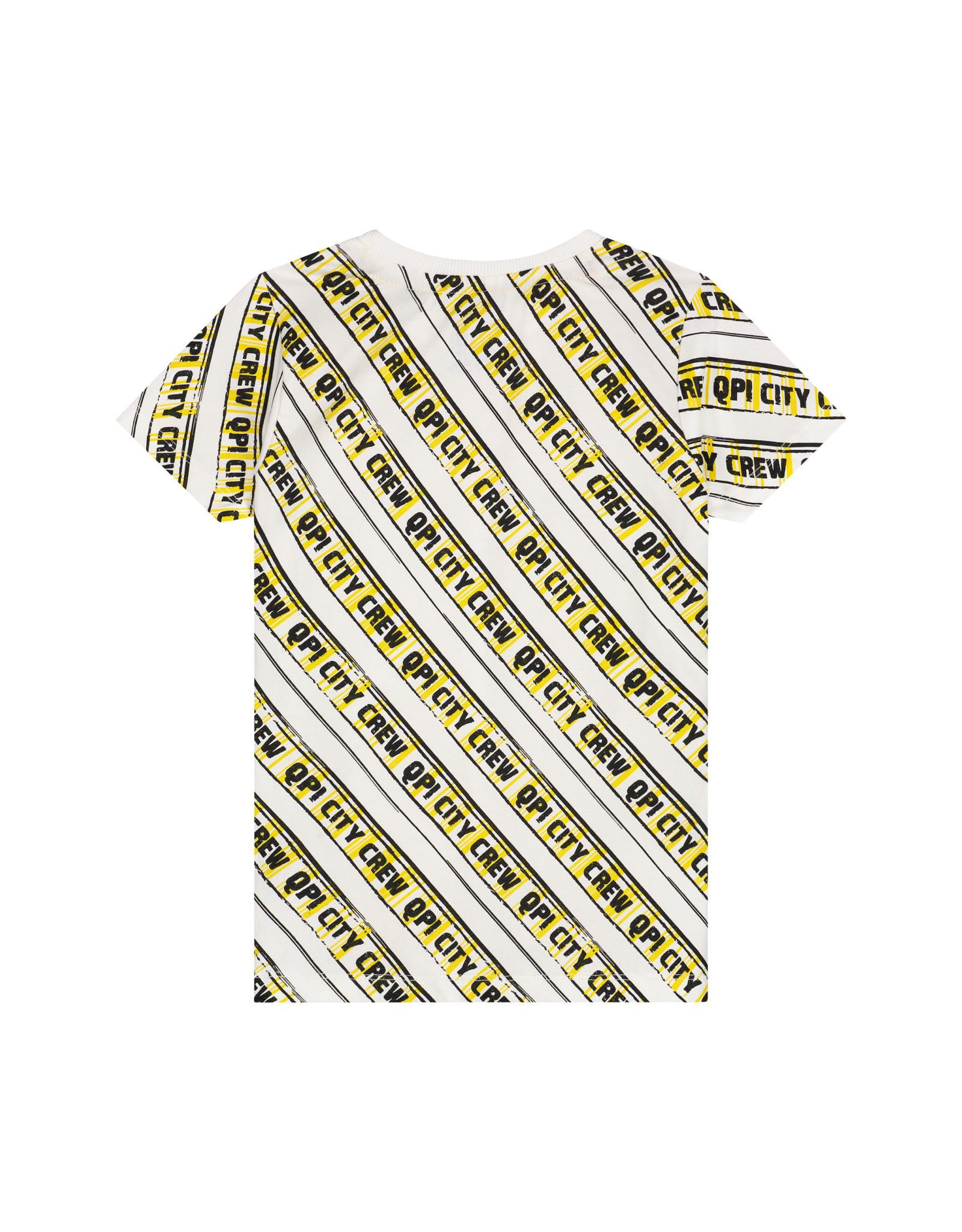 Quapi jongens t-shirt Adam Empire Yellow Stripe