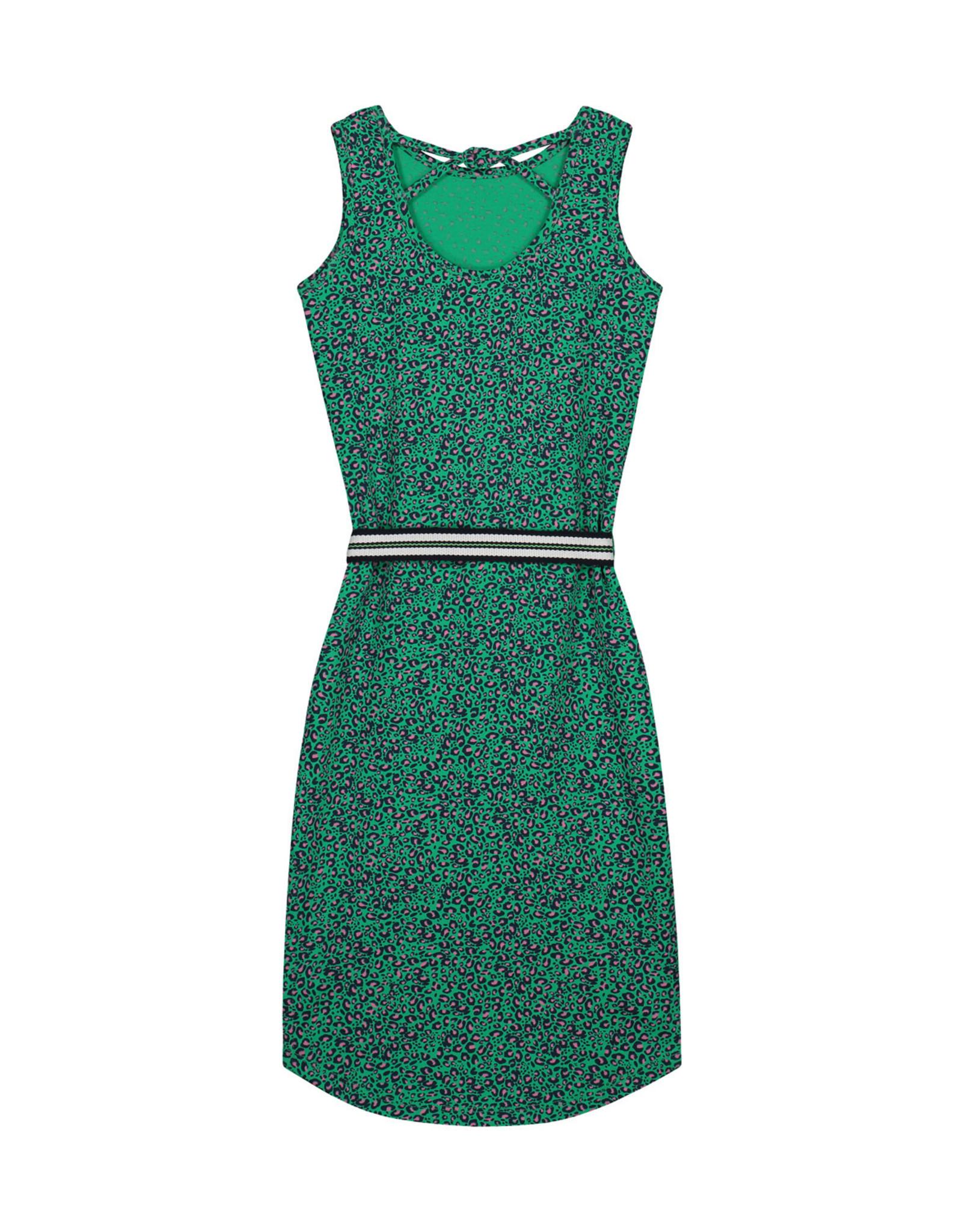 Quapi meisjes jurk Alley Jungle Green Leopard