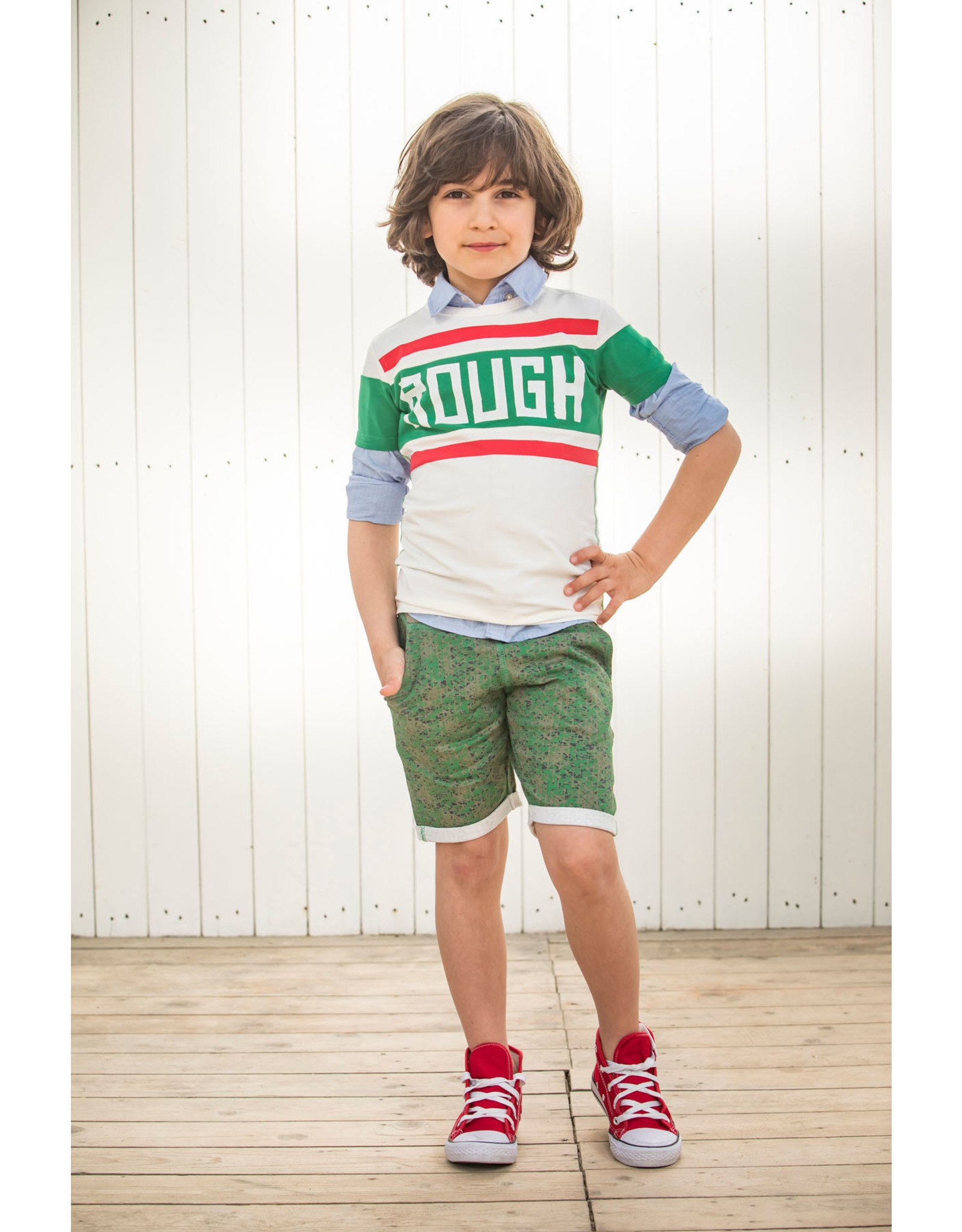 NAIS NAIS jongens korte joggingbroek Endy Khaki