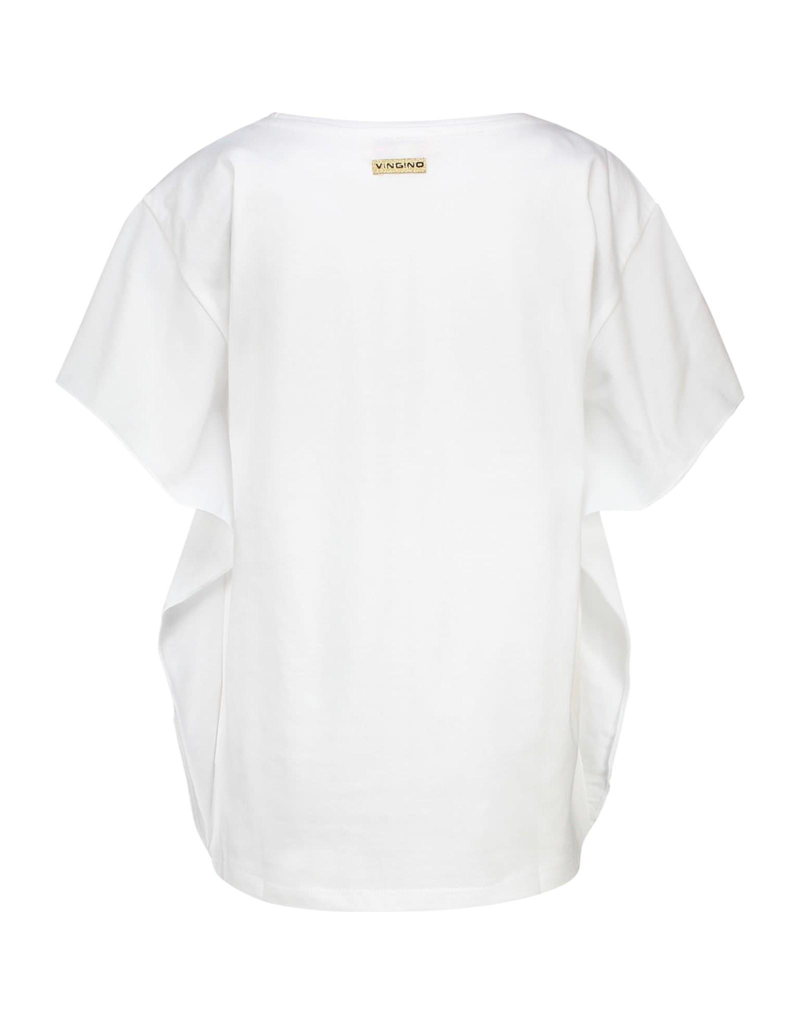 Vingino Vingino meiden t-shirt Hanoeska Real White