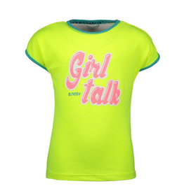 B.Nosy meisjes t-shirt Girl Talk Safety Yellow
